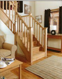 oak spindle stairs